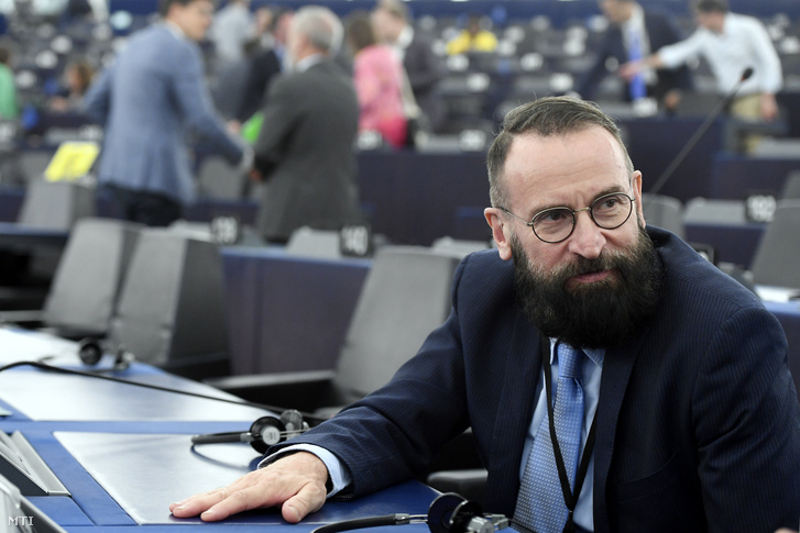Fidesz MEP József Szájer at the plenary session of the European Parliament on 16 July 2019.