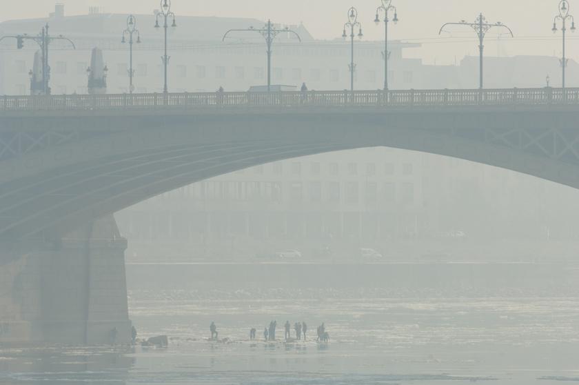 Szmog Budapesten 2017 januárjában.