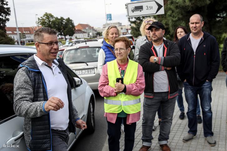 Soós Gábor, a forgalomlassító demonstráció szervezője