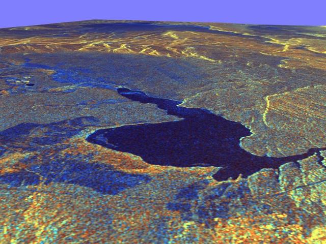 A californiai Long Valley, háromdimenziós nézete