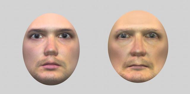 Egy példa a problémát feltáró tesztből: az arcvaksággal küzdő emberek nem tudják megállapítani, a két arc közül melyik tartozik idősebb emberhez