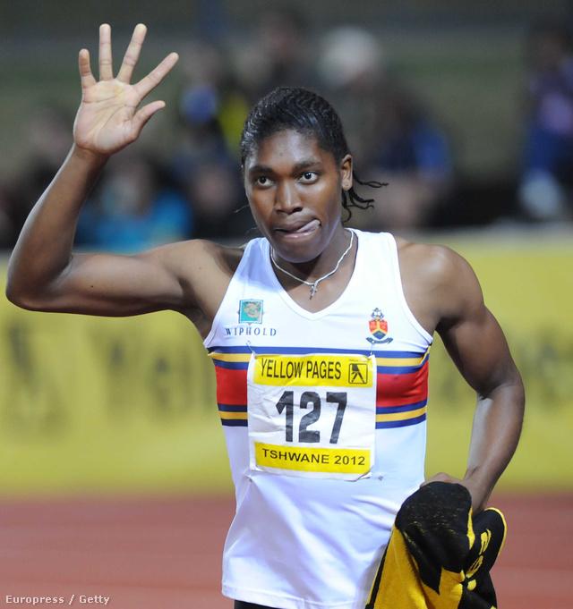 Caster Semenya a dél-afrikai Yellow Pages Series III versenyen, 2012. április 20-án