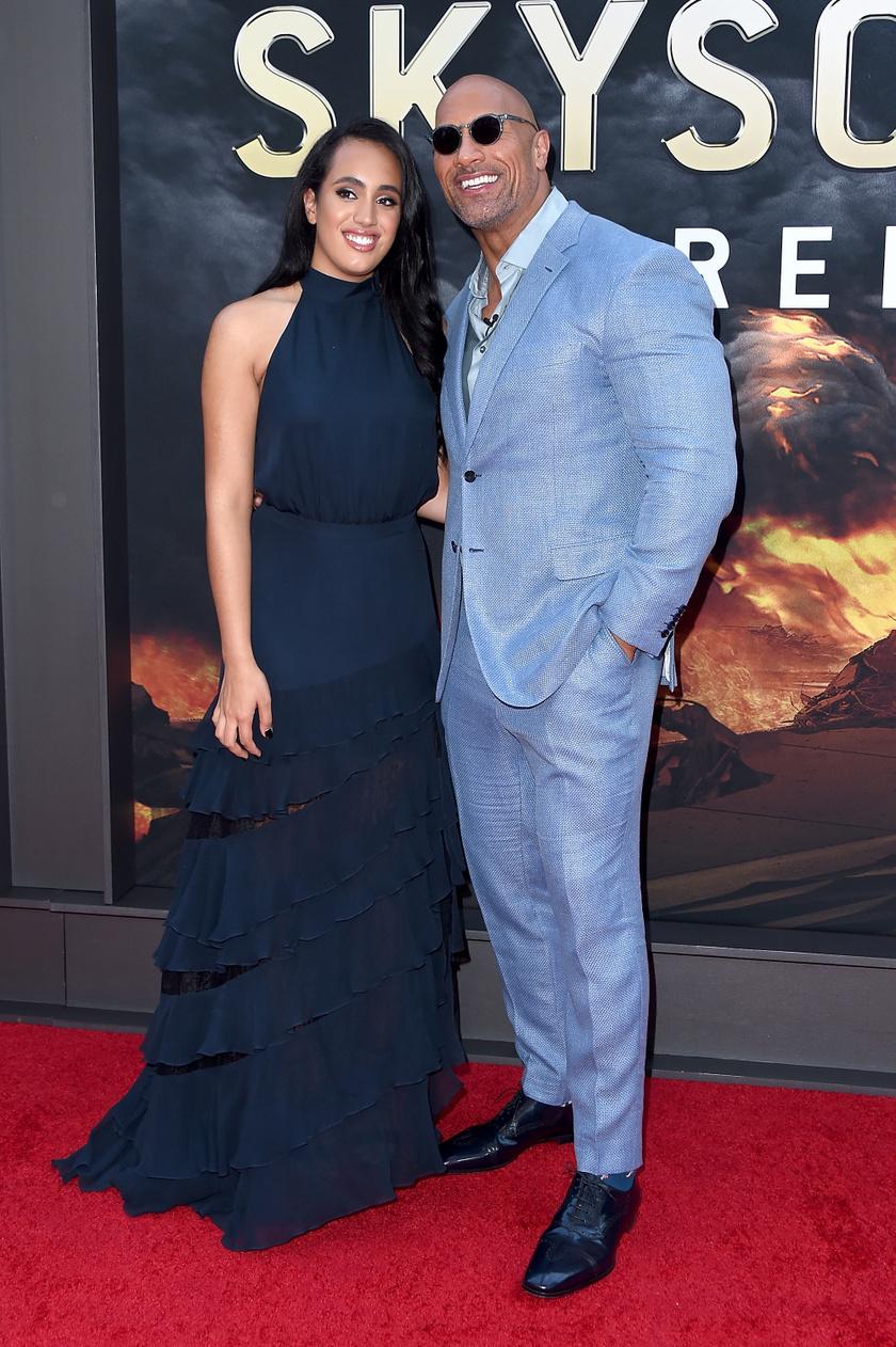 Dwayne Johnson legidősebb lányával, Simone-nal.