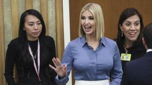Ivanka Trump elfelejtett melltartót venni, mellbimbójával jeget lehetne vágni