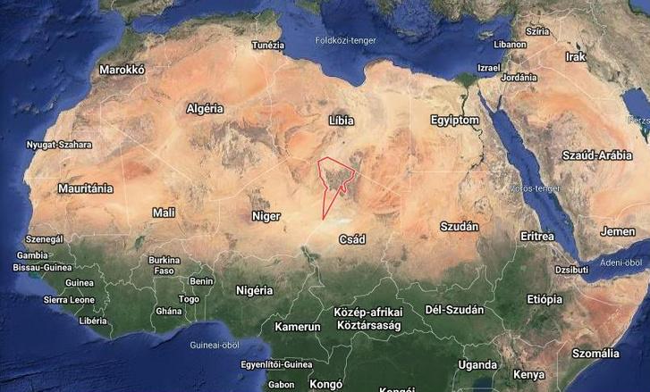 A Tibesti régió Csád északi részén