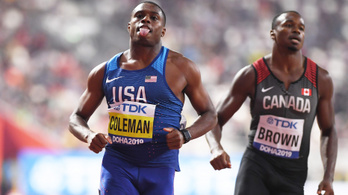 Coleman brutálisan erős futással jelentkezett be a 100 méter trónjáért