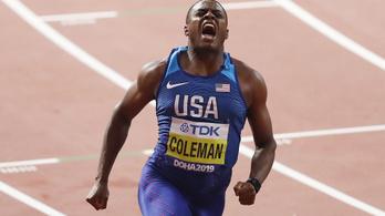 Coleman szenzációs idővel lett a száz világbajnoka