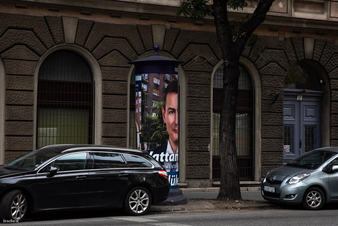Vattamány Zsolt kampányplakátja a Rottenbiller utcában