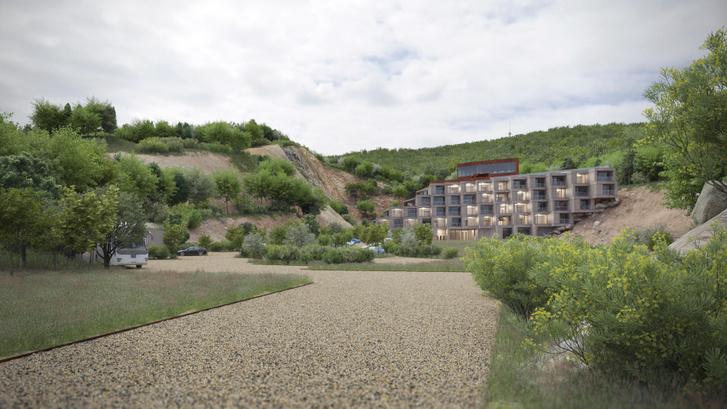 A TCSV által épített szálloda látványterve