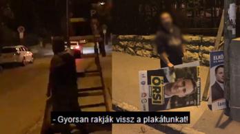 A második kerületi Fidesz szerint feltették, nem pedig levették az ellenzéki jelölt plakátjait