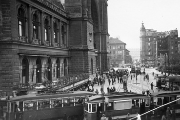 Baross tér, Keleti pályaudvar. 1935.