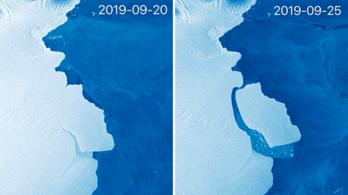 Egy 315 milliárd tonnás jéghegy szakadt le az Antarktiszról