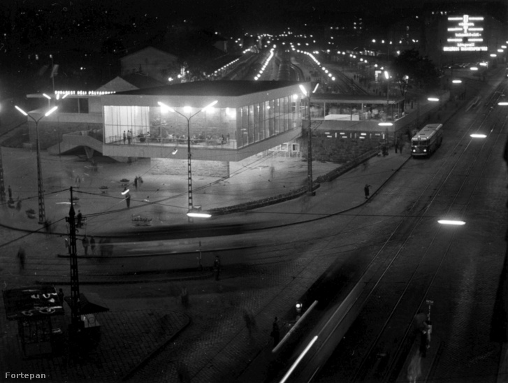Déli pályaudvar, jobbra az Alkotás utca.1964.