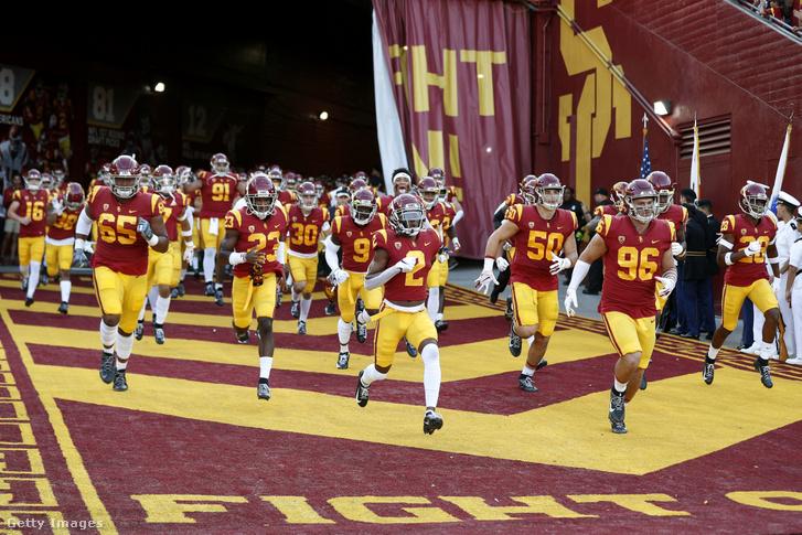 A USC amerikaifutball-csapata egy 2019-es mérkőzés előtt