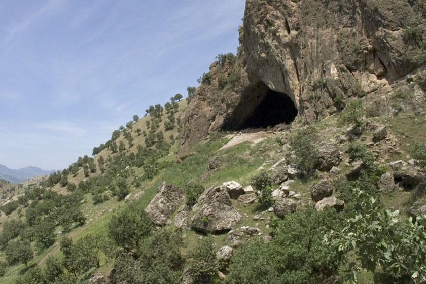Az iraki Shanidar-barlang, a maradványok lelőhelye.