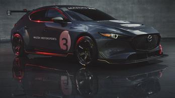 Megmutatták a Mazda 3-ból készült TCR versenygépet