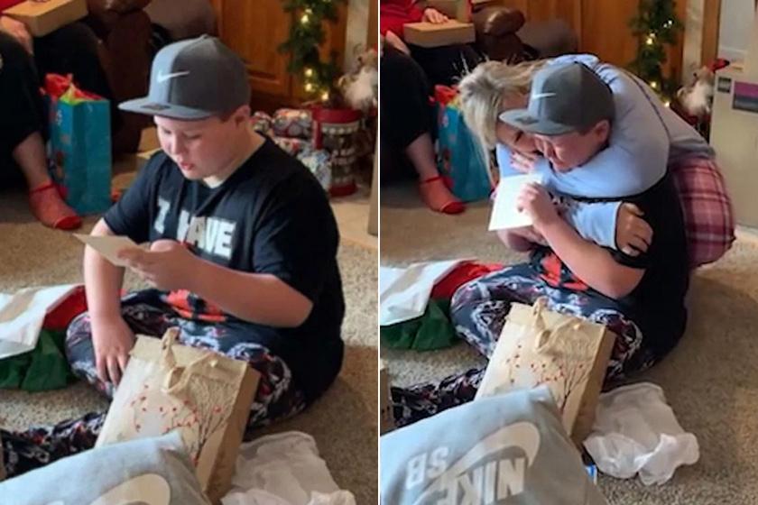 Karácsonykor tudta meg a 11 éves kisfiú, hogy örökbe fogadják - Megható videó