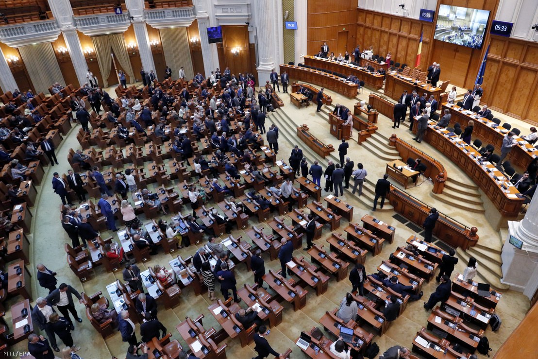 A román parlament ülésterme
