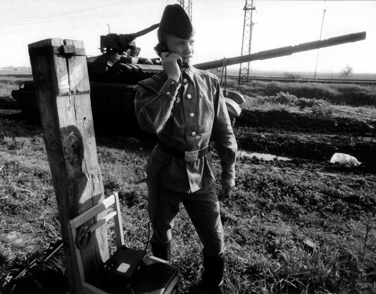 Megkezdik a kivonulást az első szovjet páncélos csapatok, Kiskunhalas, 1989. április 11.