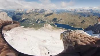 Madártávlatból döbbenhetünk rá, milyen gyorsan olvadnak az Alpok gleccserei