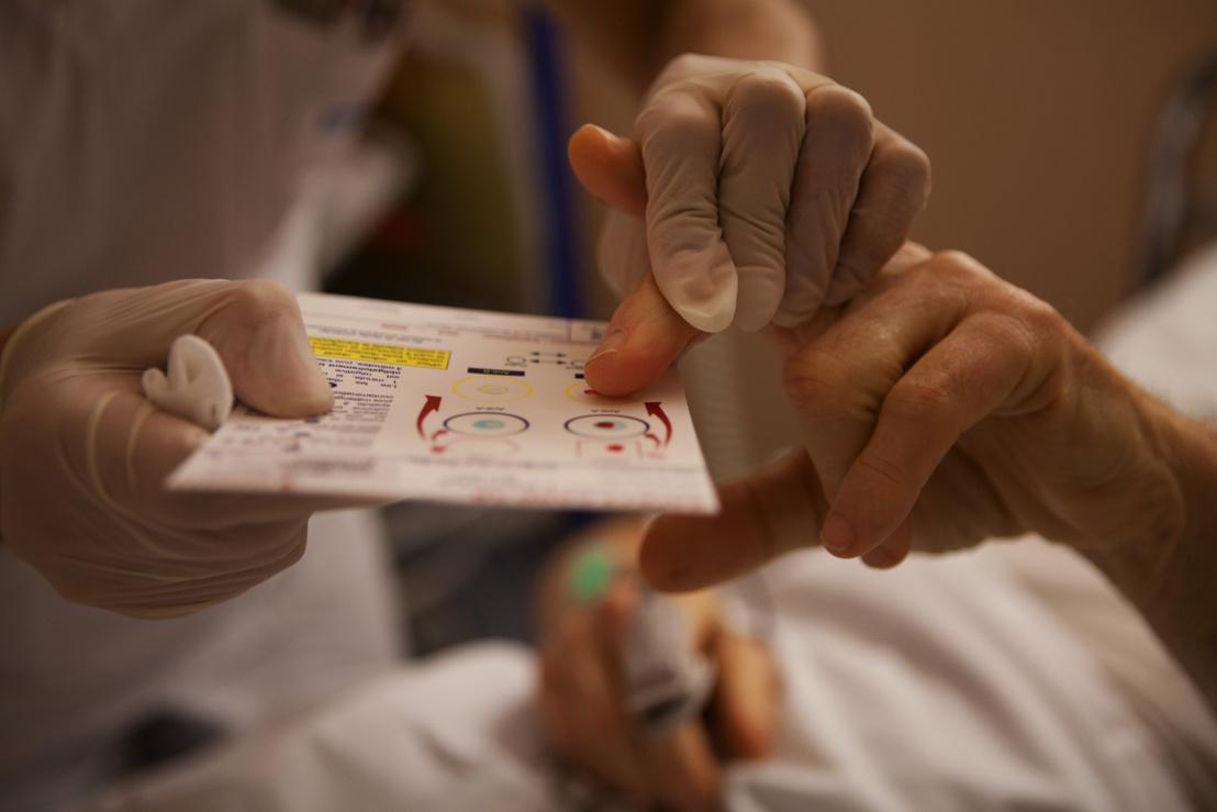Vércsoport tesztelés egy kórházban