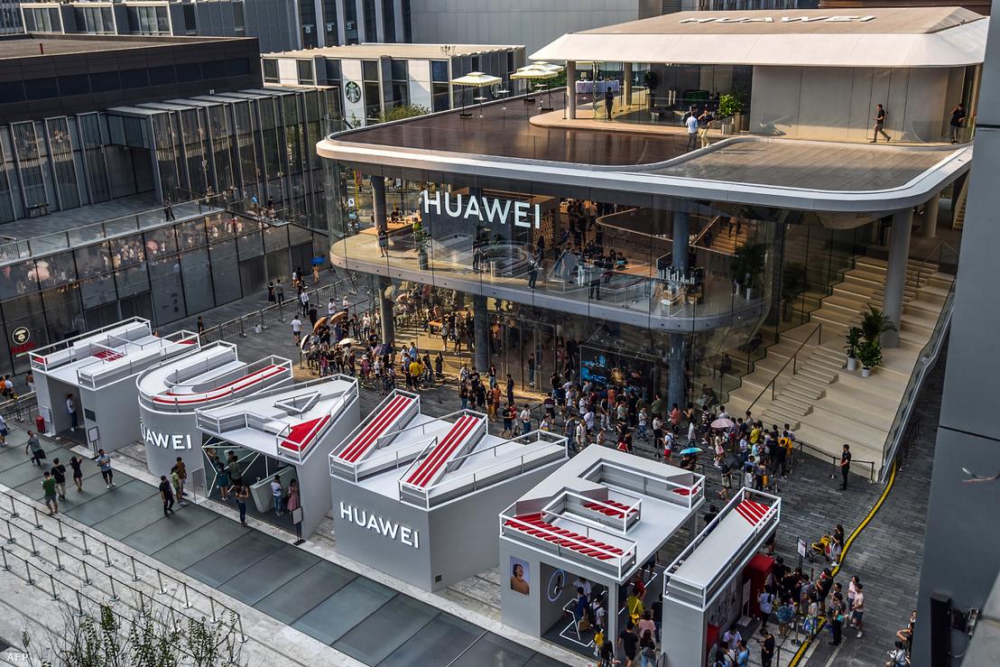 Huawei bemutató Shenzhenben, Kína Guangdong tartományában