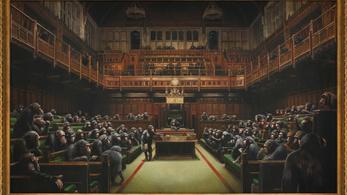 Elképesztő összeget fizettek Banksy legnagyobb festményéért