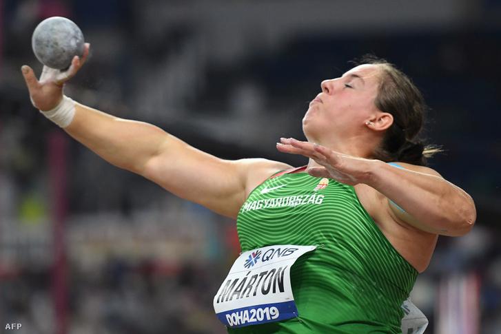 Márton Anita a dohai atlétikai világbajnokság női súlylökő döntőjében