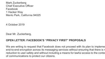 Összefogtak a Facebook-üzenetek titkosítása ellen