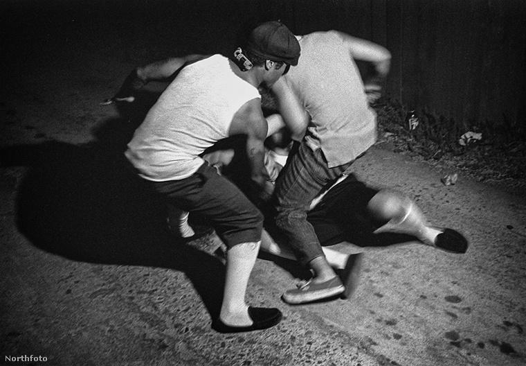 Ezen az 1985-ös képen nem két banda összecsapása látható, hanem a The Sons of Samoa nevű csoport tagjai verekednek egymással.