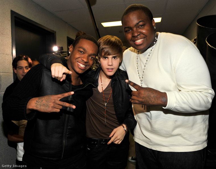 Taio Cruz, Justin Bieber és Sean Kingston 2010-ben