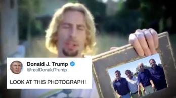Levették a Twitterről Donald Trump videóját, miután a Nickelback panaszt emelt
