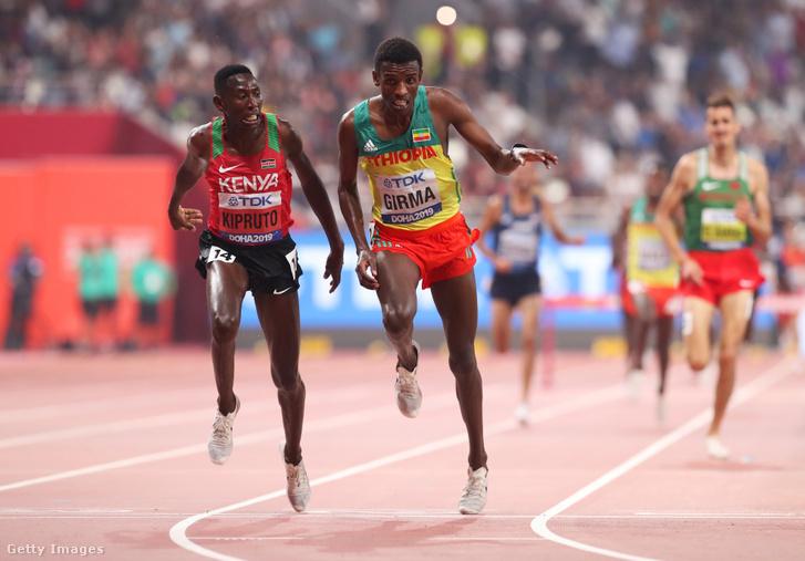 Conseslus Kipruto és Lamecha Girma között egyetlen századmásodperc döntött 3000 méteres akadályfutásban