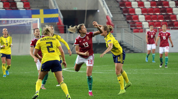 Erősen kikaptunk a svédektől női fociban