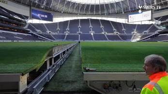 Kivontatták a gyepet a Tottenham stadionjából