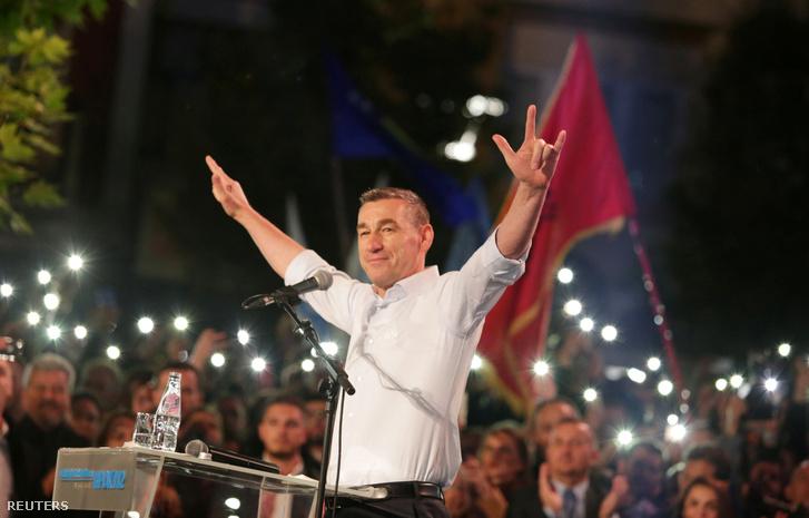 Kadri Veseli pártja október 4-én tartott kampánygyűlésén