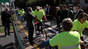 Másodjára is átadták a bicikliutat Ercsiben