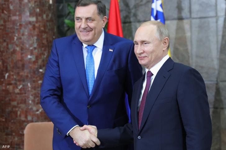 Milorad Dodik és Vlagyimir Putyin belgrádi találkozója 2019. január 17-én
