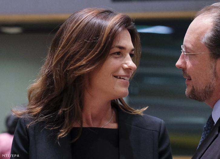 Varga Judit igazságügyi miniszter az EU-tagországok általános európai ügyekkel foglalkozó minisztereinek brüsszeli találkozóján 2019. szeptember 16-án.