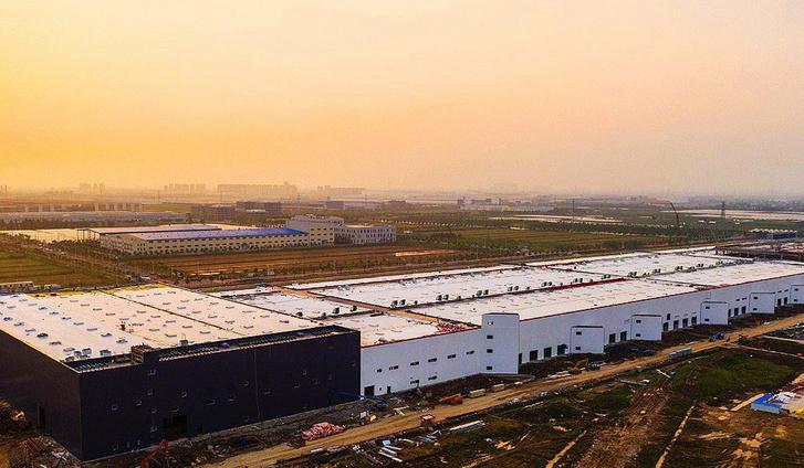 A Tesla épülő kínai gyára