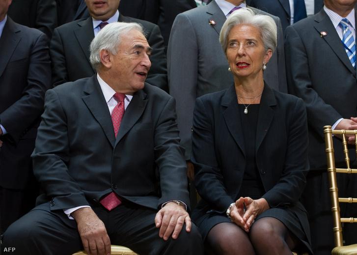 Dominique Strauss-Kahn és Christine Lagarde francia pénzügyminiszter