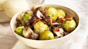 Isteni saláta, egyszerű köret, de akár főétel is készülhet belőle: kelbimbó gesztenyével