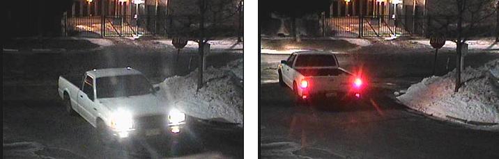 Térfigyelő kamerák felvétele a fehér Mazda pickupról 1993-ban készül Goldenben, a 26 éves mérnökhallgató lakásának közelében
