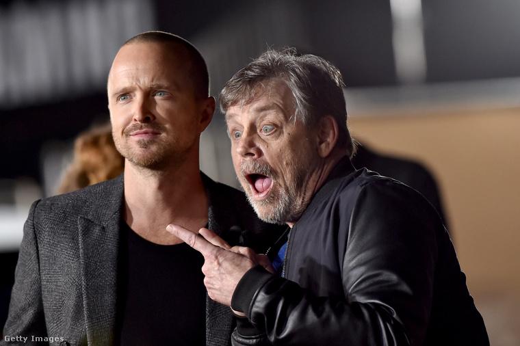 Az El Camino premierjén sok híresség megjelent, ott volt például Luke Skywalker, azaz Mark Hamill is.