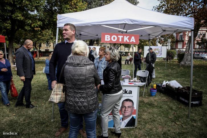 Botka László a családi napon a szegedi Lechner téren