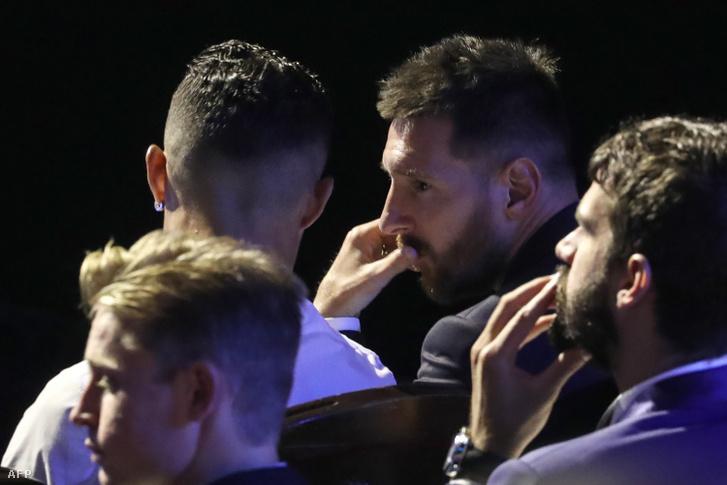 Cristiano Ronaldo és Messi egy idei díjátadón