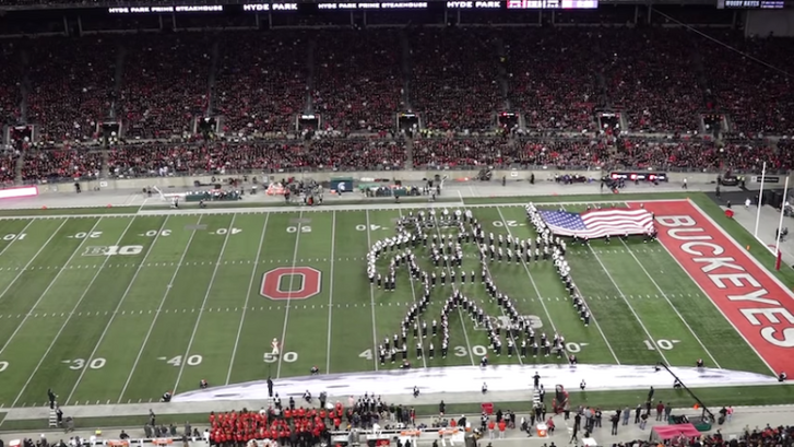 Ohio-State-Marching-Band-One-Giant-Leap-Halftime-Show-First-Step