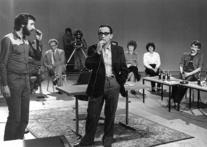Vekerdy Tamás az MTV stúdiójában 1979-ben
