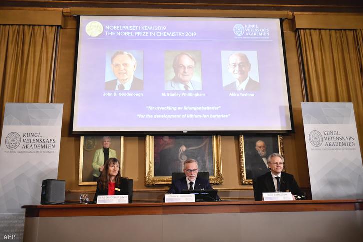 A kémiai Nobel-díj bejelentése Stockholmban