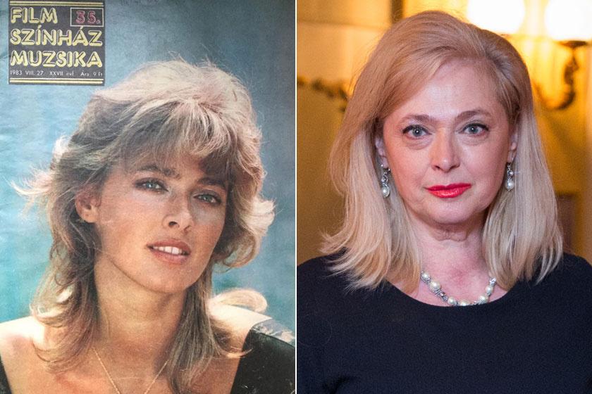 Rák Kati a Film, Színház, Muzsika egyik 1983-as címlapján és a 2018-as Magyar Filmdíj átadóján.
